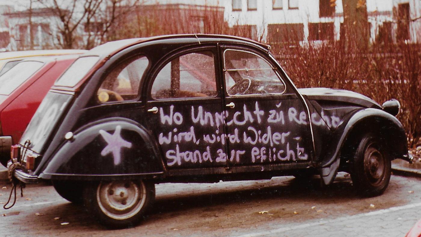 Wo Unrecht zu Recht wird, wird Widerstand zur Pflicht ©K. Schwahlen 1982