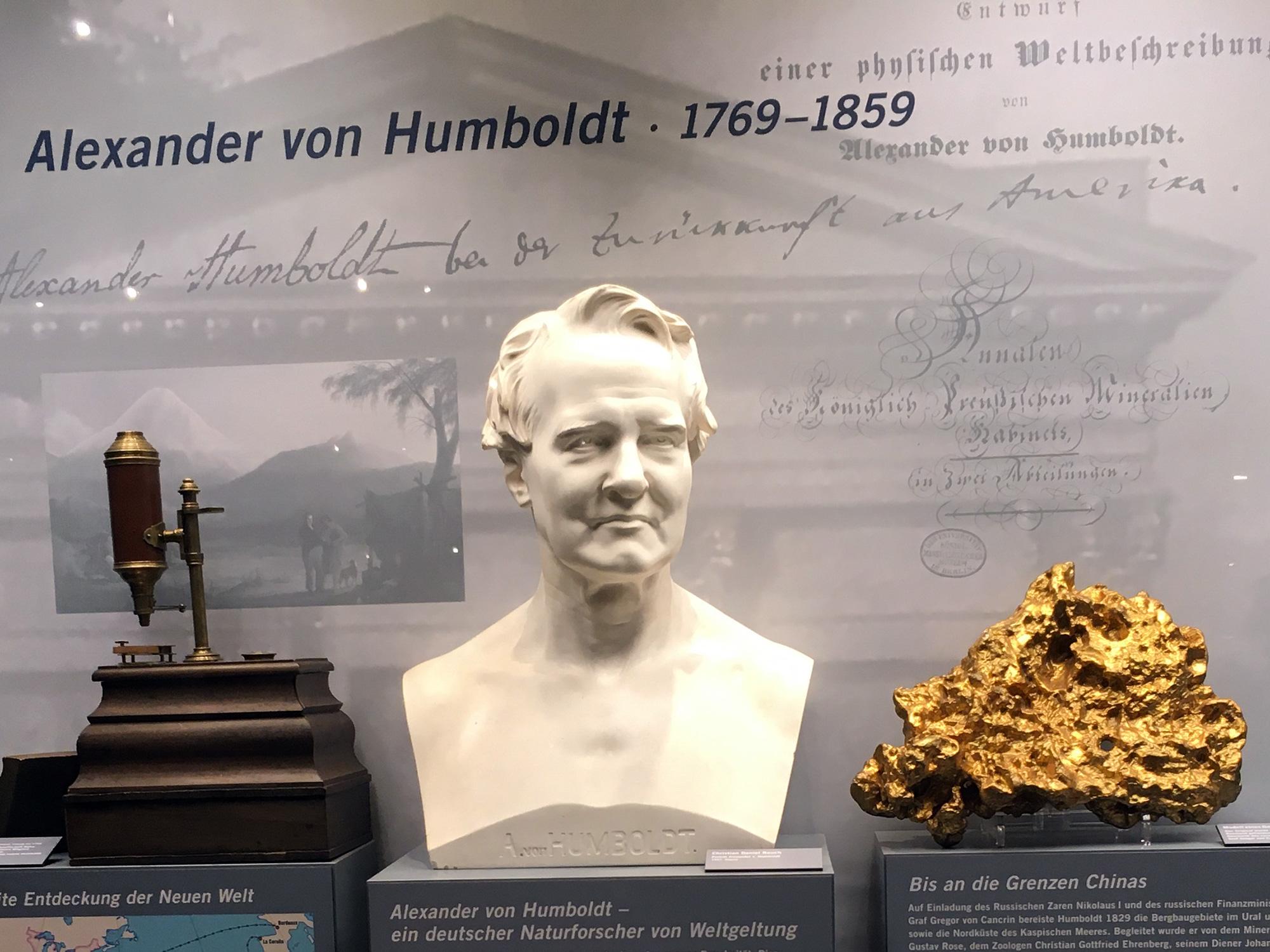 Alexander v. Humboldt, Museum für Naturkunde, Berlin ©K. Schwahlen 2019